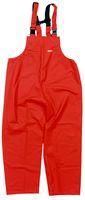OCEAN-Regen-Nässe-Wetter-Schutz-Latzhose, Comfort Stretch, 210g/m², orange