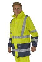 OCEAN-Warn-Schutz-Jacke, Comfort Stretch, 210g/m², gelb/marine