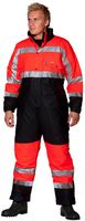 OCEAN-Warn-Schutz-Thermo-Overall, HIGH-VIS, Comfort Stretch, 170g/m², orange/marine