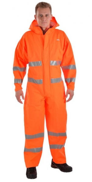 OCEAN-Warnschutz-Overall, Comfort Heavy, 210g/m², orange