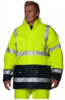 OCEAN-Warn-Schutz-Winter-Jacke, HIGH VIS, Comfort Stretch, 170g/m², gelb/marine