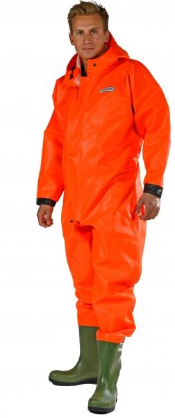 OCEAN-Arbeits-Berufs-Schutzanzug, Overall, mit Stiefel, Off shore, 325g/m², orange
