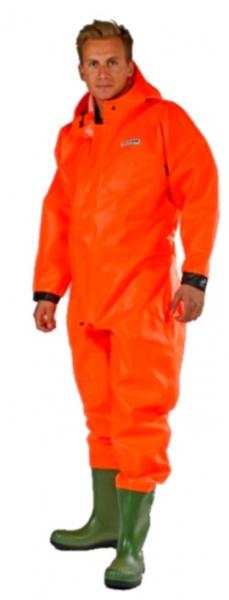 OCEAN-Schutzanzug mit Sicherheitsstiefel S5, Off shore, 325g/m², orange