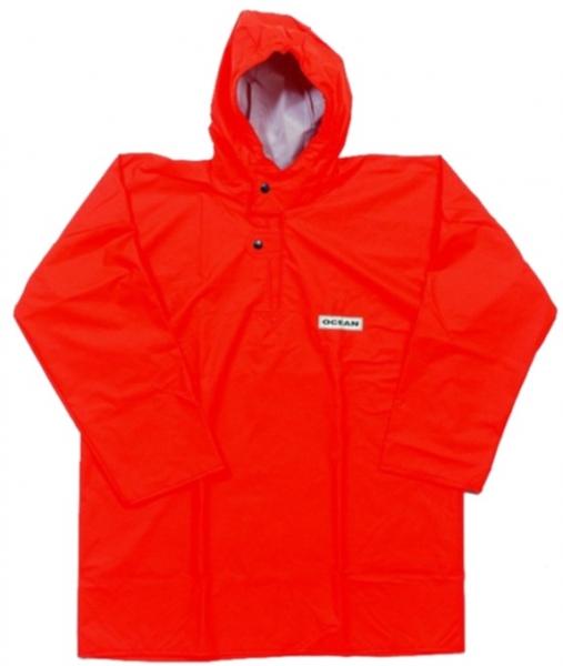 OCEAN-Regen-Nässe-Wetter-Schutz-Jacke, Fischerbluse, Comfort Heavy,220g/m², orange