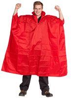 OCEAN-Regen-Nässe-Wetter-Schutz-Poncho, mit Kapuze und Reißverschluss, rot
