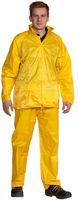 OCEAN-Regen-Schutz-Anzug,Jacke mit Reißverschluss, Hose mit Gummizug, gelb