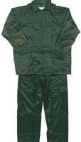 OCEAN-Regen-Schutz-Anzug, Jacke mit Reißverschluss, Hose mit Gummizug, oliv