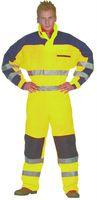OCEAN Thermo Warn-Schutz-Arbeits-Berufs-Overall HIGH-VIS, gelb/marine