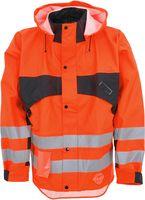 OCEAN-Abeko-Warn-Schutz-Jacke, Supreme, fl.orange/schwarz