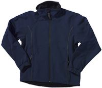OCEAN-Soft-Shell Damenjacke, Fleece-Jacke, marine