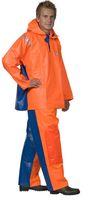 OCEAN-Regen-Nässe-Wetter-Schutz-Jacke, Fischerbluse, Crewman, 540g/m², orange/königsblau