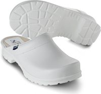 SIKA-OB-Arbeits-Berufs-Clogs, COMFORT, offene Ferse, weiss
