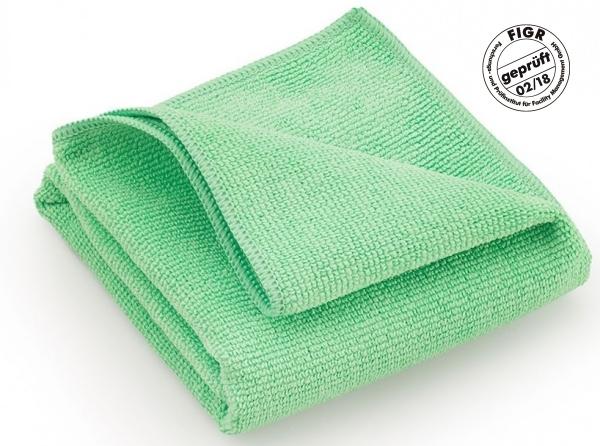 MEGA CLEAN-Microfaser-Putz-Tücher, Mikrofaser-Tücher, Hochleistungs-Tuch Platin, grün