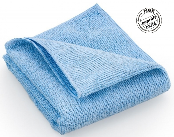 MEGA CLEAN-Microfaser-Putz-Tücher, Mikrofaser-Tücher, Hochleistungs-Tuch Platin, blau