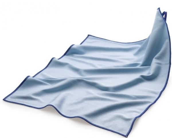MEGA CLEAN Mikrofaser-Tücher, Microfaser-Polier- und Geschirr-Tuch, blau