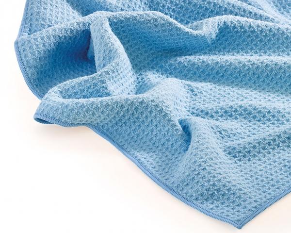 MEGA CLEAN Mikrofaser-Tücher, Waffeltuch, blau