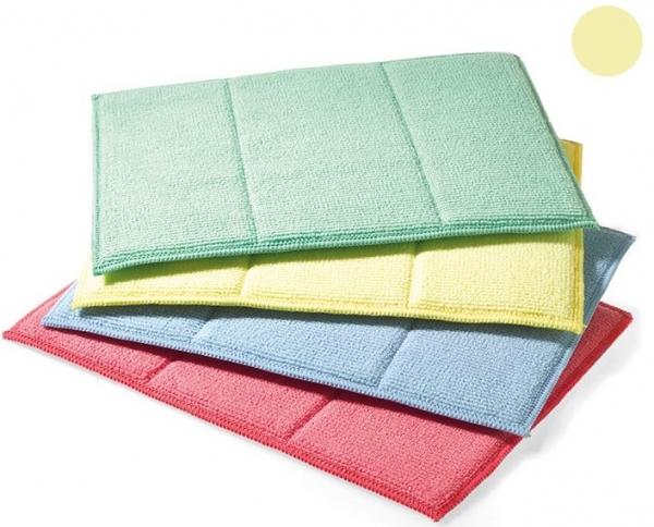 MEGA CLEAN-Microfaser-Putz-Tücher, Mikrofaser-Tuch, Schwamm-Tuch, gelb