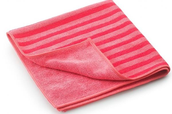 MEGA CLEAN-Microfaser-Putz-Tücher, Mikrofaser-Tuch, Borstentuch, rot