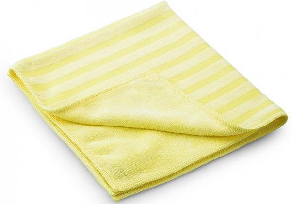 MEGA CLEAN-Microfaser-Putz-Tücher, Mikrofaser-Tuch, Borstentuch, gelb