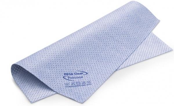 MEGA CLEAN-Microfaser-Putz-Tücher, Mikrofaser-Kunstleder-Tuch, gelocht, das vegane MEGA Powertuch, blau