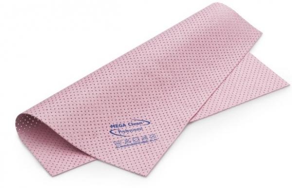 MEGA CLEAN-Microfaser-Putz-Tücher, Mikrofaser-Kunstleder-Tuch, gelocht, das vegane MEGA Powertuch, rosa