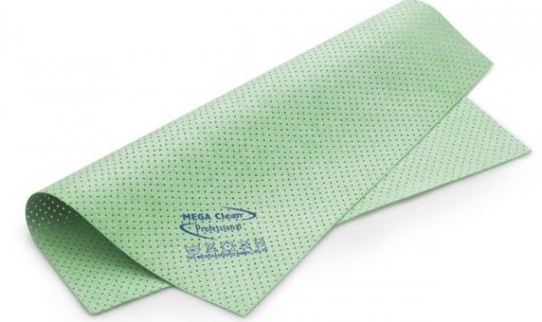 MEGA CLEAN-Microfaser-Putz-Tücher,  Mikrofaser-Kunstleder-Tuch, gelocht, das vegane MEGA Powertuch, grün