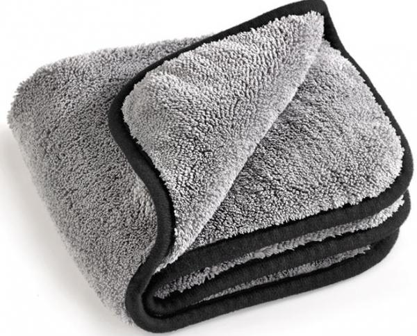 MEGA CLEAN-Microfaser-Putz-Tücher,  Mikrofaser-Tuch, MEGA Flausch, grau/schwarz