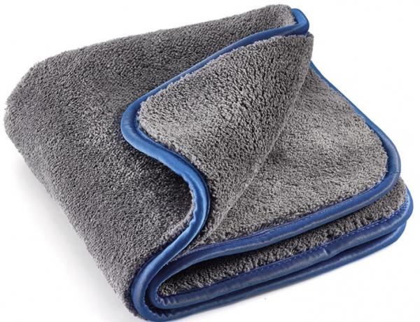 MEGA CLEAN-Microfaser-Putz-Tücher,  Mikrofaser-Tuch MEGA Flausch Plus, grau/blau