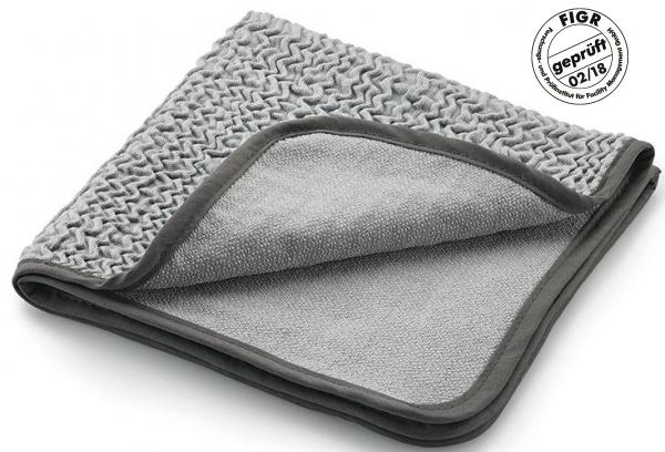 MEGA CLEAN-Microfaser-Putz-Tücher,  Mikrofaser-Tuch to go, silbergrau