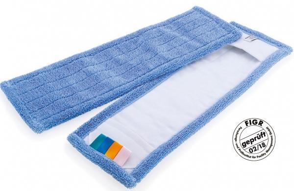 MEGA CLEAN-Wisch-Mopps-Pads, Mikrofaser-Mop Blauer Sprinter, 40 cm, blau