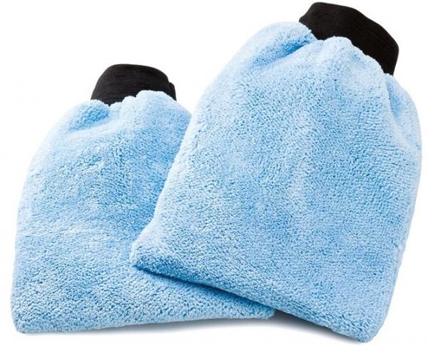 MEGA CLEAN-Wisch-Mopps-Pads, Mikrofaser, Universal-Reinigungshandschuh, blau