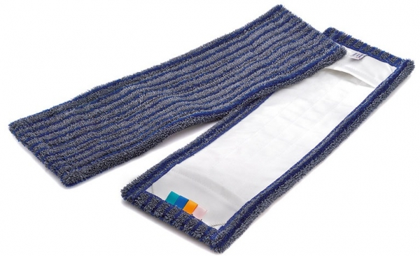 MEGA CLEAN-Wisch-Mopps-Pads, Mikrofaser-Mop, Borstenmop, 50 cm, blau/grau