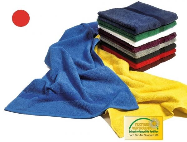 MEGA CLEAN Baumwolle-Duschtücher, Microfaser-Dusch-Tuch, 3 Stück, rot