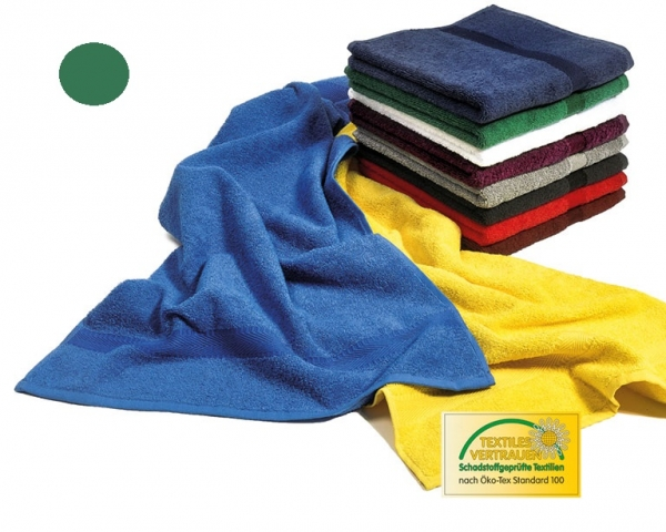 MEGA CLEAN Baumwolle-Gästetücher, Microfaser-Gästetuch, 12 Stück, waldgrün