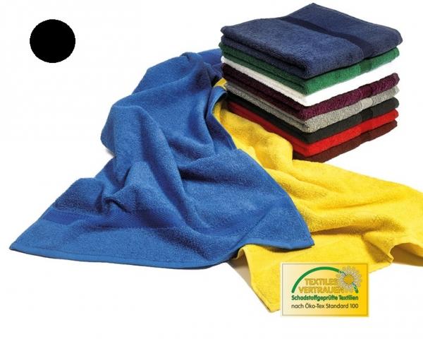 MEGA CLEAN Baumwolle-Gästetücher, Microfaser-Gästetuch, 12 Stück, schwarz