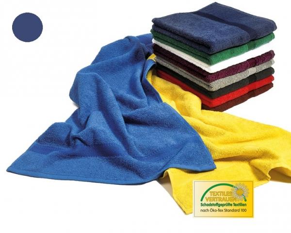 MEGA CLEAN Baumwolle-Handtücher, Microfaser-Handtuch, 10 Stück, marine