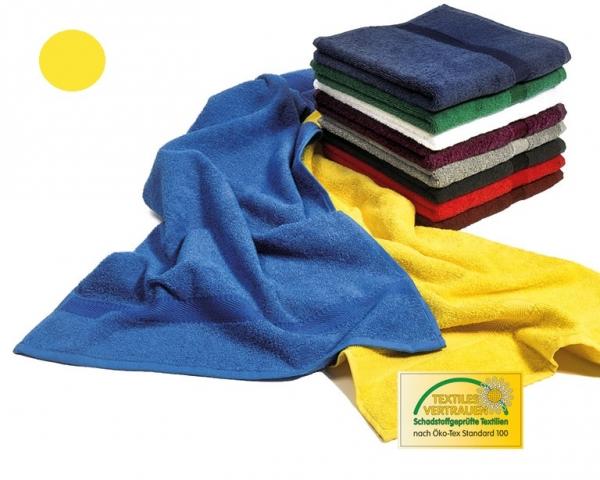MEGA CLEAN Baumwolle-Handtücher, Microfaser-Handtuch, 10 Stück, gelb
