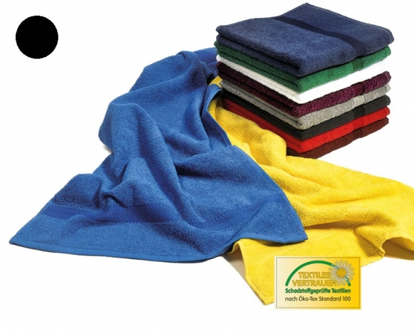 MEGA CLEAN Mikrofaser-Handtücher, Microfaser-Handtuch, 10 Stück, schwarz