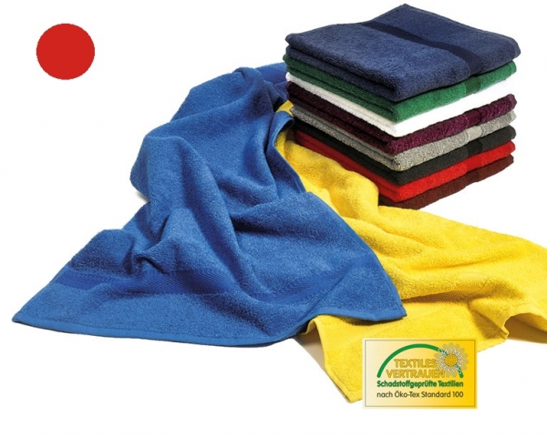 MEGA CLEAN-Hygiene, Mikrofaser-Waschlappen, Seiflappen, 12 Stück, rot