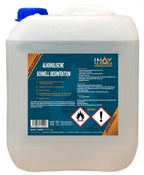 Handdesinfektion-INOX Alkoholische Schnelldesinfektion für Hände und Oberfläche, 5L Kanister