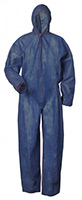 UNIVERSAL-PP-Einweg-Overall, Einmal-Schutz-Anzug mit Kapuze, blau