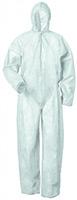 UNIVERSAL-PP-Einweg-Overall, Einmal-Maler-Anzug mit Kapuze, weiß