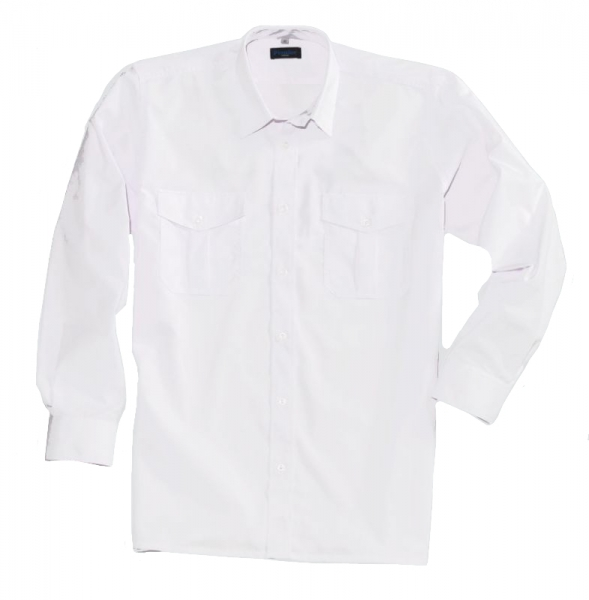 PIONIER-Business-Pilot-Arbeits-Berufs-Hemd, 1/1-Arm, MG, weiß