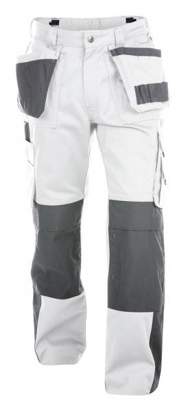 DASSY-Bundhose SEATTLE,  weiß/grau