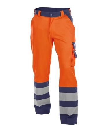 DASSY-Warnschutz-Bundhose LANCESTER , orange/dunkelblau