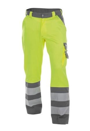 DASSY-Warnschutz-Bundhose LANCESTER , gelb/grau
