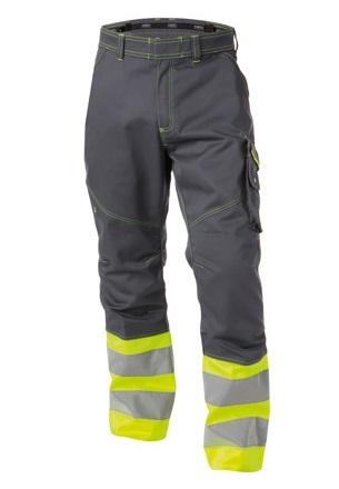 DASSY-Warnschutz-Bundhose PHOENIX , gelb/grau