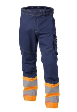DASSY-Warnschutz-Bundhose PHOENIX , orange/dunkelblau