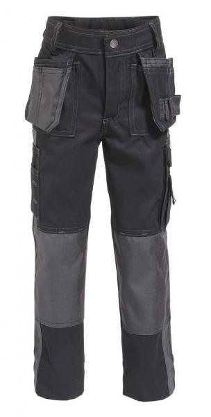 DASSY-Bundhose SEATTLE KIDS,  schwarz/grau