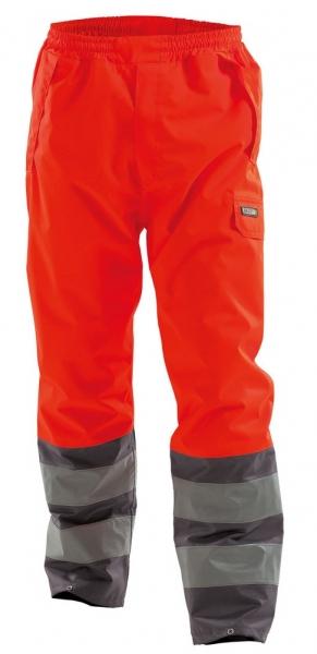 DASSY-Warnschutz-Regen-Bundhose SOLA,   rot/grau